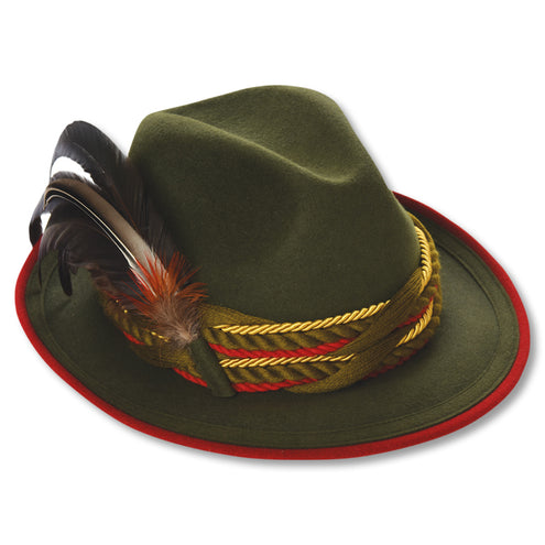 Kevin's Fur Felt Fedora with Feather-WOMENS CLOTHING-GREEN-L (58)-Kevin's Fine Outdoor Gear & Apparel