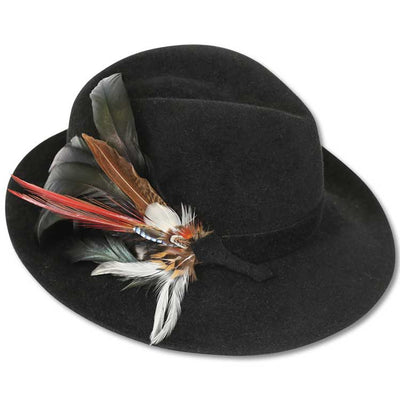 Velour Rabbit Feather Fedora
