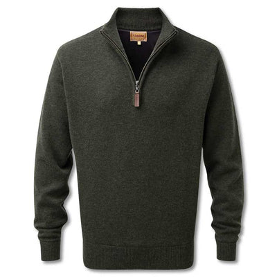 Schoffel Men's Lambswool Windstop 1/4 Zip