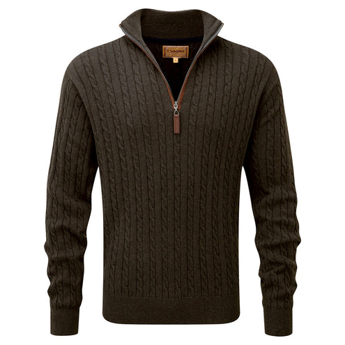 Schoffel Men's Cashmere Cable Jumper-MENS CLOTHING-Schöffel Country-LODEN-2XL-Kevin's Fine Outdoor Gear & Apparel