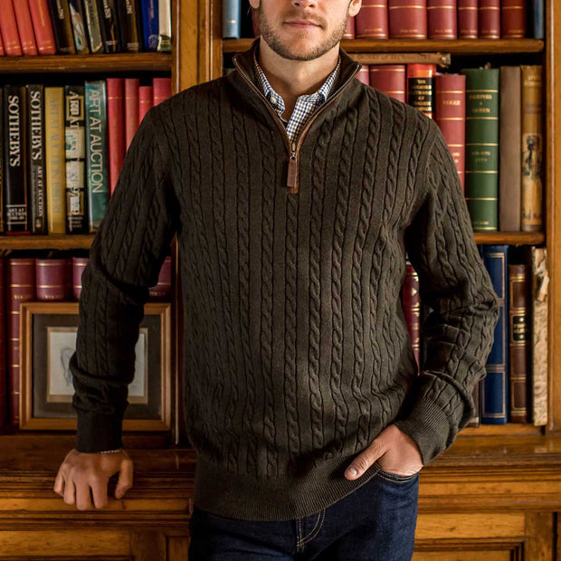 Schoffel Men's Cashmere Cable Jumper