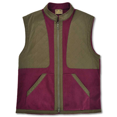 Kevin's Classic Fleece Shooting Vest-Wine-S-Kevin's Fine Outdoor Gear & Apparel