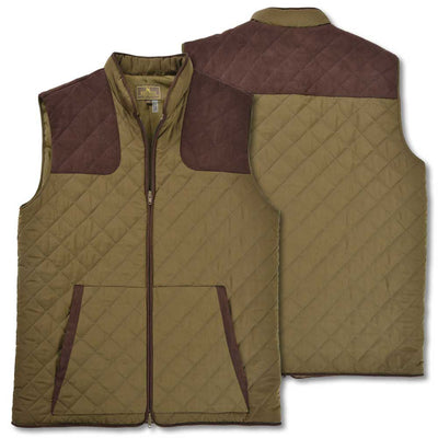 Kevin's Classic Quilted Outdoor Vest-Olive-S-Kevin's Fine Outdoor Gear & Apparel