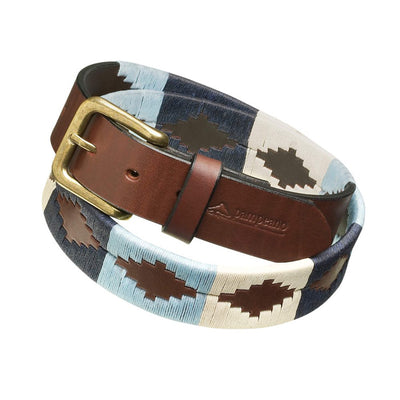 "Pampeano Sereno Polo Belt-MENS CLOTHING-Pampeano-NAVY/CREAM-100/US36""-Kevin's Fine Outdoor Gear & Apparel"