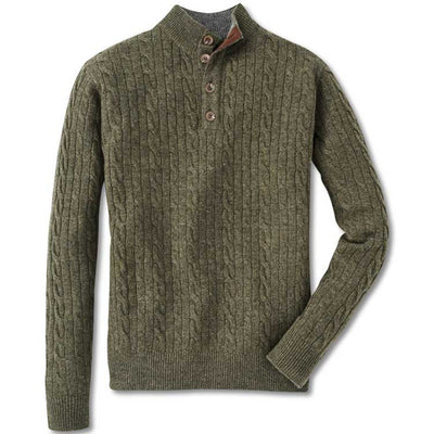 Peter MIllar Pull Over Button Cable Knit Sweater