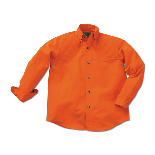 Kevin's Children's 100% Cotton Shooting Shirt-CHILDRENS CLOTHING-SOLID BLAZE-M-Kevin's Fine Outdoor Gear & Apparel