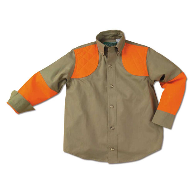 Kevin's Children's 100% Cotton Shooting Shirt-CHILDRENS CLOTHING-KHAKI-BLAZE-L-Kevin's Fine Outdoor Gear & Apparel