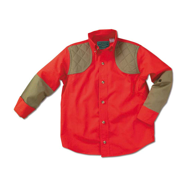 Kevin's Children's 100% Cotton Shooting Shirt-CHILDRENS CLOTHING-RED-KHAKI-M-Kevin's Fine Outdoor Gear & Apparel