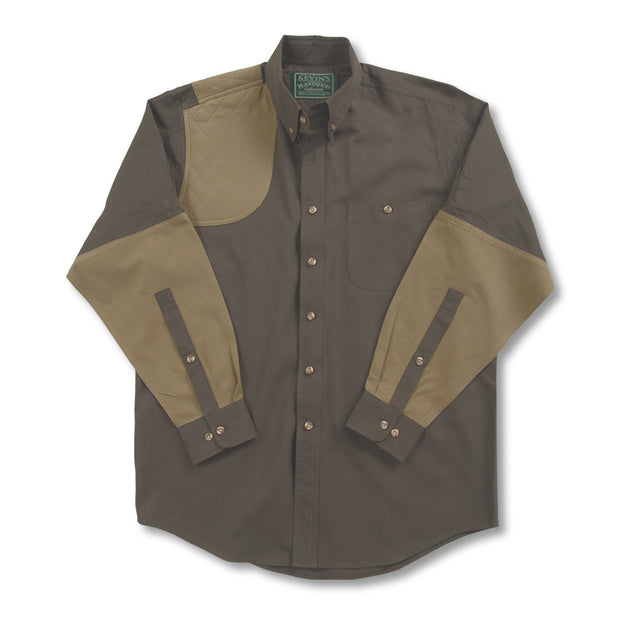 Kevin's Long Sleeve Single Right Patch Shooting Shirt-HUNTING/OUTDOORS-Advantage Apparel-DKGRN-KHAKI-S-Kevin's Fine Outdoor Gear & Apparel