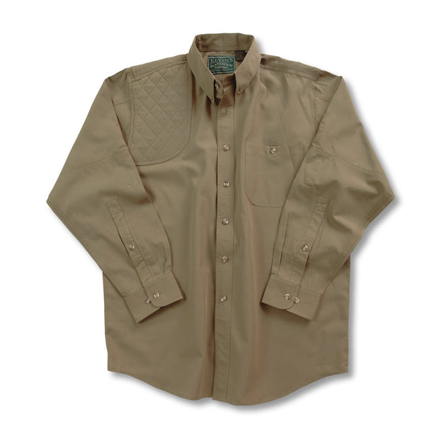 Kevin's Long Sleeve Single Right Patch Shooting Shirt-HUNTING/OUTDOORS-Advantage Apparel-SOLID KHAKI-M-Kevin's Fine Outdoor Gear & Apparel