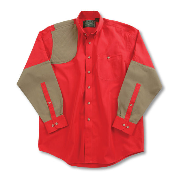 Kevin's Long Sleeve Single Right Patch Shooting Shirt-HUNTING/OUTDOORS-Advantage Apparel-RED-KHAKI-M-Kevin's Fine Outdoor Gear & Apparel