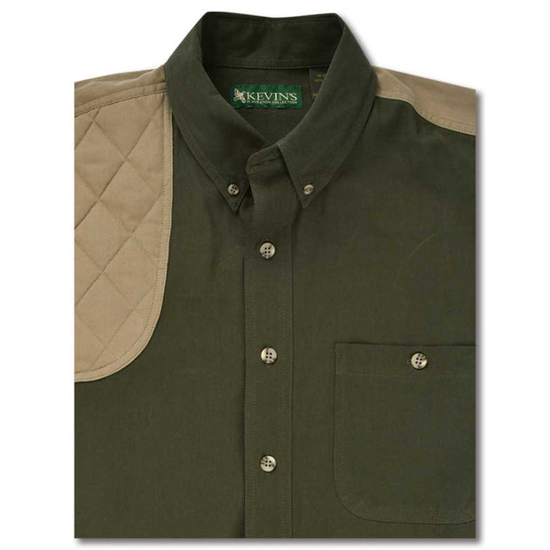 Kevin's Feather-Weight Short Sleeve Right Patch Wingshooting Shirt-MENS CLOTHING-DK GRN KHAKI-2XL-Kevin's Fine Outdoor Gear & Apparel