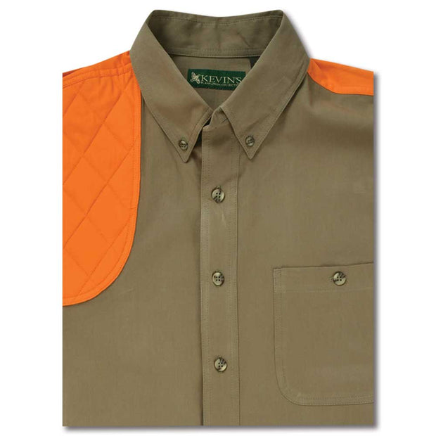 Kevin's Feather-Weight Short Sleeve Right Patch Wingshooting Shirt-MENS CLOTHING-KHAKI BLAZE-2XL-Kevin's Fine Outdoor Gear & Apparel