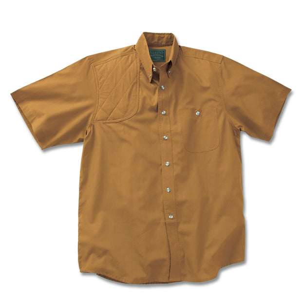 Kevin's Feather-Weight Short Sleeve Right Patch Wingshooting Shirt-MENS CLOTHING-TOBACCO-M-Kevin's Fine Outdoor Gear & Apparel