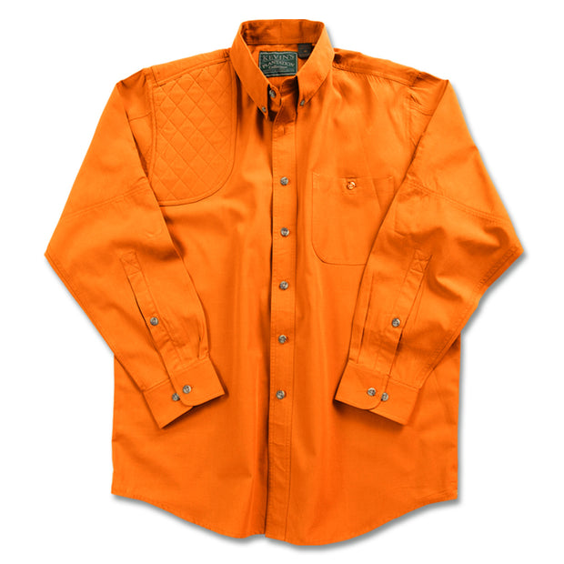 Kevin's Big & Tall Long Sleeve Right Hand Shooting Shirt in Solid Orange