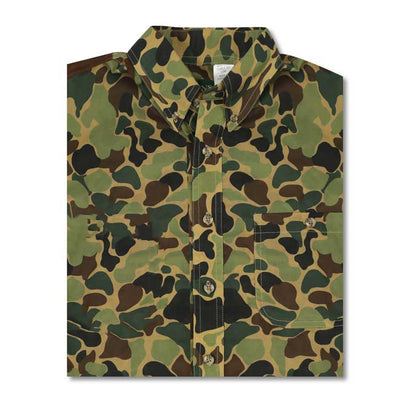 Kevin's Long Sleeve Poplin Vintage Camo Field Shirt