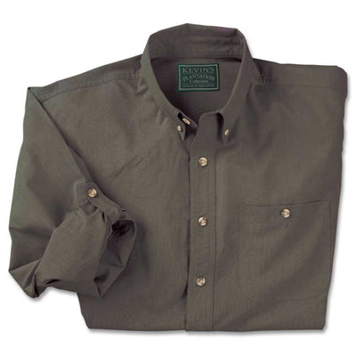 Kevin's Big And Tall Feather-Weight Plantation Long Sleeve Field Shirt-MENS CLOTHING-Dark Green-3XL-Kevin's Fine Outdoor Gear & Apparel