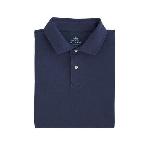 Peter Millar Youth Seaside Wash Solid Polo Navy