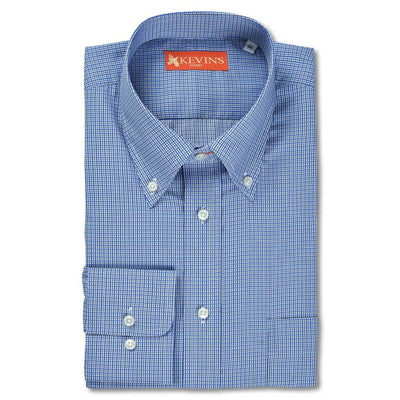 Kevin's Finest 100% Cotton Blue Plaid-MENS CLOTHING-BLUE PLAID-M-Kevin's Fine Outdoor Gear & Apparel