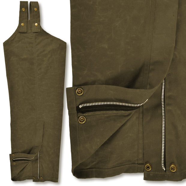 Kevin's 100% Wax Cotton Chaps-HUNTING/OUTDOORS-Advantage Apparel-OLIVE-HUSKY-LONG-Kevin's Fine Outdoor Gear & Apparel