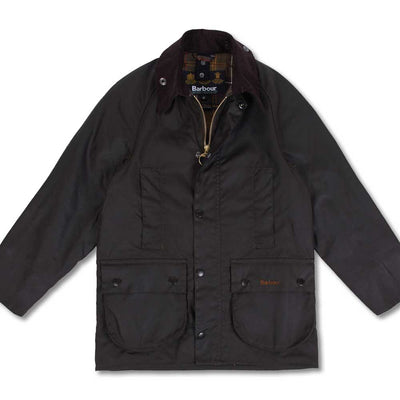 Barbour Boy's Beaufort Waxed Jacket-CHILDRENS CLOTHING-Olive-S-Kevin's Fine Outdoor Gear & Apparel