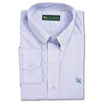 Kevin's Tattersall Dress Shirt with Quail Embroidery