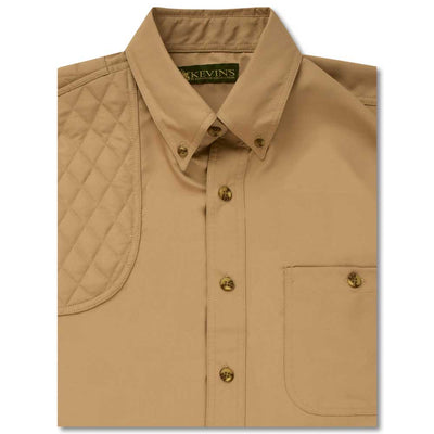 Kevin's Short Sleeve Single Right Patch Performance Shooting Shirt-HUNTING/OUTDOORS-SOLID KHAKI-2XL-Kevin's Fine Outdoor Gear & Apparel