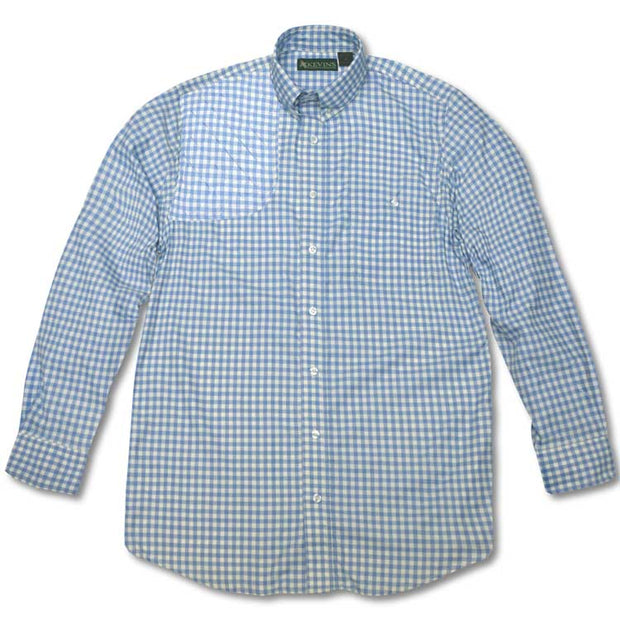 Kevin's Children's Long Sleeve Gingham Performance Shooting Shirt