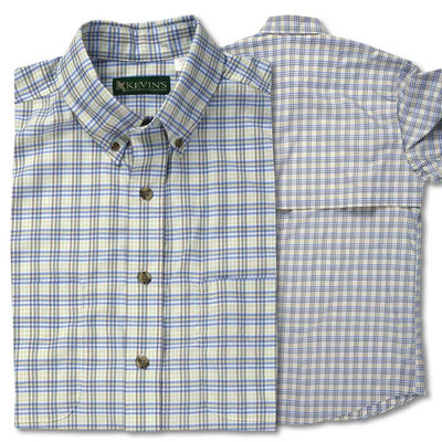 Kevin's Performance Short Sleeve Fishing Plaid Shirt