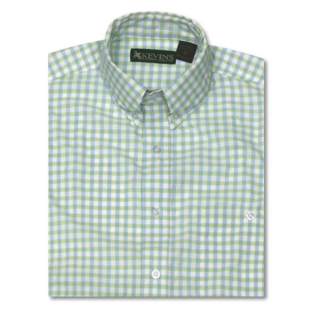 Kevin's Performance Short Sleeve Fishing Shirt in Gingham