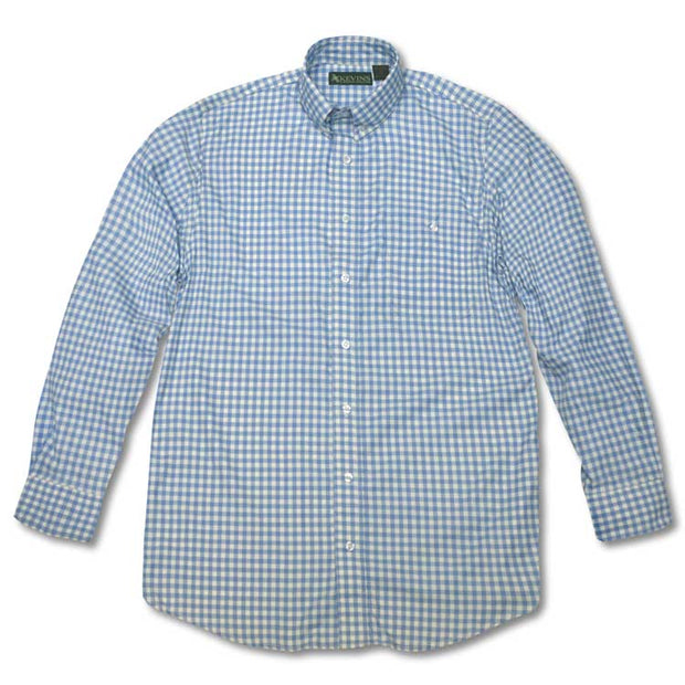 Kevin's Performance Long Sleeve Fishing Shirt in Gingham