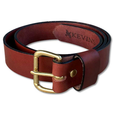 Kevin's 1.5 Inch Wide Chestnut/Oxblood Genuine Leather Belt--Kevin's Fine Outdoor Gear & Apparel