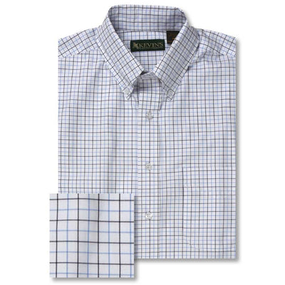 Kevin's Tattersall Dress Shirt-MENS CLOTHING-BLUE/LIGHT BLUE-2XL-Kevin's Fine Outdoor Gear & Apparel