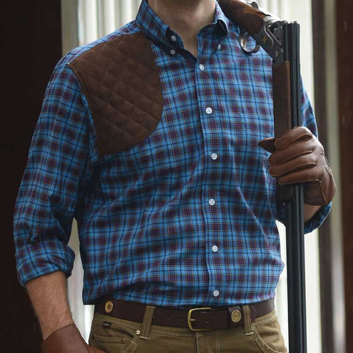 Kevin's Big & Tall NAVY SEAL Tartan Shooting Shirt