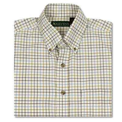Kevin's Tattersall Performance Fabric Dress Shirt