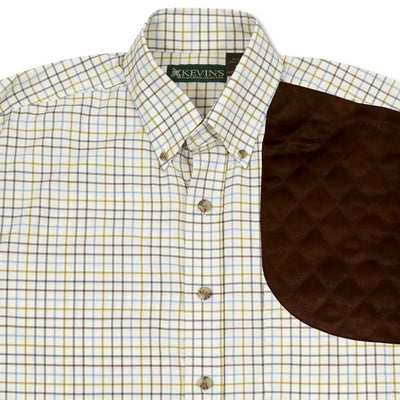 Kevin's Moss Green Performance Tattersall Left Hand Shooting Shirt
