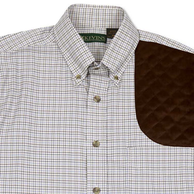 Kevin's Navy/Brown Performance Tattersall Left Hand Shooting Shirt