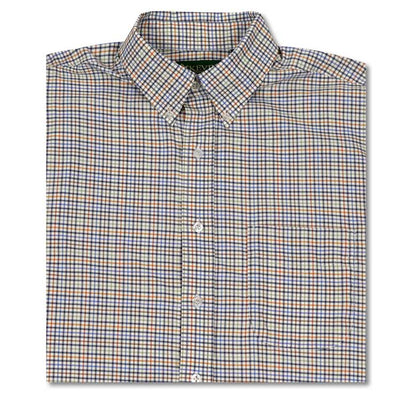 Kevin's Orange/Blue Performance Tattersall Dress Shirt