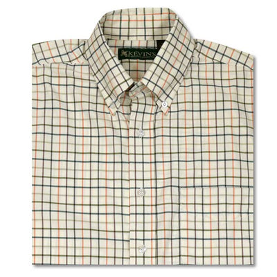 Kevin's Pumpkin Performance Tattersall Dress Shirt