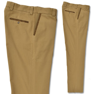 Kevin's Canvas Stretch Pant with Faux Suede Trim