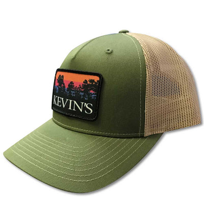 Kevin's Pines Logo Hat-Men's Accessories-ARMY OLIVE/TAN-Kevin's Fine Outdoor Gear & Apparel