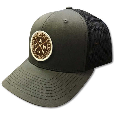 Kevin's Quad Logo Hat-Men's Accessories-CHARCOAL/BLACK-Kevin's Fine Outdoor Gear & Apparel