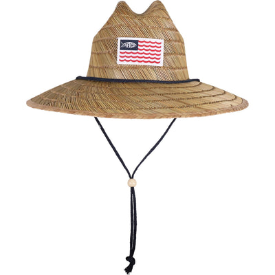 AFTCO Palapa 3 Straw Hat-Men's Accessories-Natural-Kevin's Fine Outdoor Gear & Apparel