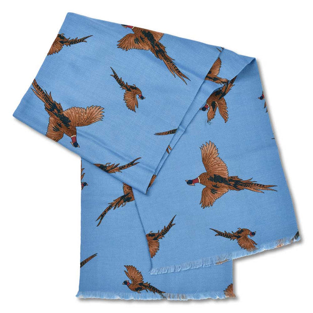 Kevin's Pheasant Hunt Scarf-WOMENS CLOTHING-LIGHT BLUE-Kevin's Fine Outdoor Gear & Apparel