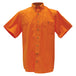 Kevin's Short Sleeve Right Patch Wingshooting Shirt in Orange