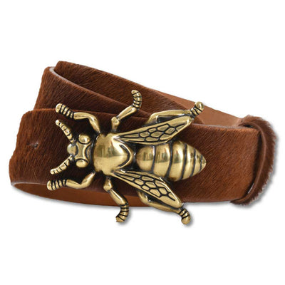 "Women's 1 1/2""Calf Hair Bee Buckle Belt-Women's Accessories-XS-Kevin's Fine Outdoor Gear & Apparel"