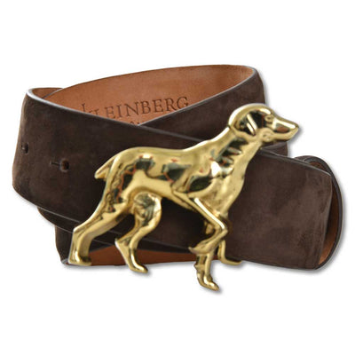 "Women's 1 1/2"" Chocolate Nubuck Dog Buckle Belt-Women's Accessories-XS-Kevin's Fine Outdoor Gear & Apparel"
