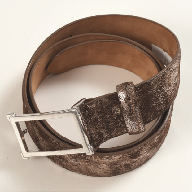 Acid Washed Leather Belt