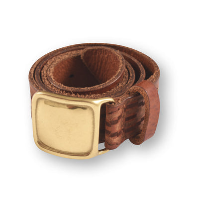 Tribal Leather Belt w/ Brass
