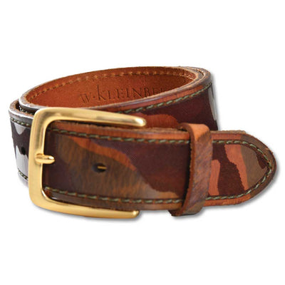 "Women's 1 3/8"" Camo Printed Leather Belt-Women's Accessories-XS-Kevin's Fine Outdoor Gear & Apparel"